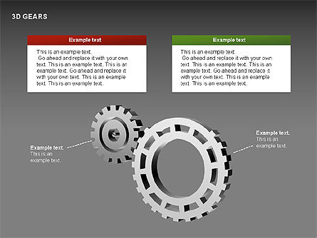 3D Gears Shapes Slide 4
