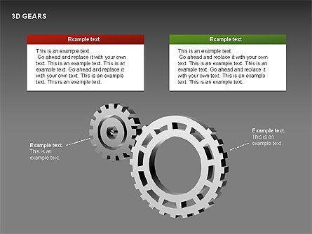 3D Gears Shapes, Slide 4, 00231, Shapes — PoweredTemplate.com