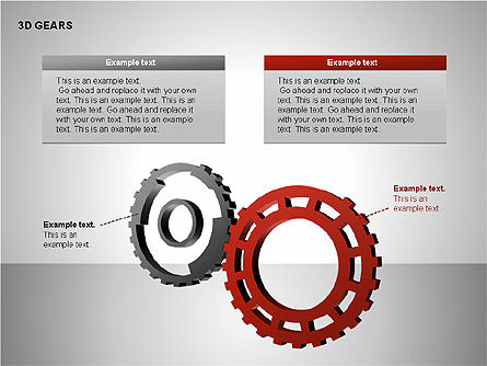 3D Gears Shapes, Slide 5, 00231, Shapes — PoweredTemplate.com