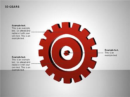 3D Gears Shapes, Slide 6, 00231, Shapes — PoweredTemplate.com