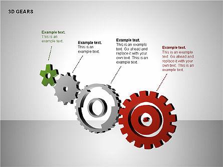 3D Gears Shapes, Slide 7, 00231, Shapes — PoweredTemplate.com