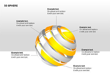 3D Sphere Charts, 00232, Shapes — PoweredTemplate.com