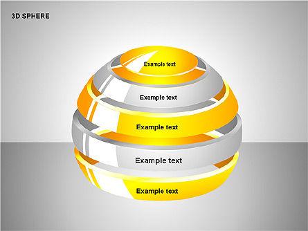 3D Sphere Charts, Slide 11, 00232, Shapes — PoweredTemplate.com