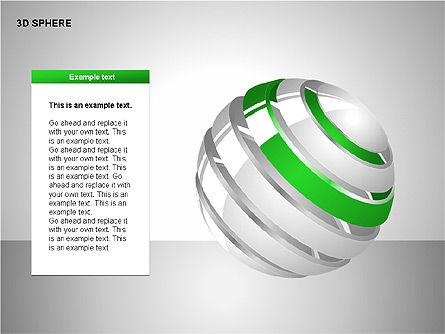 3D Sphere Charts, Slide 12, 00232, Shapes — PoweredTemplate.com
