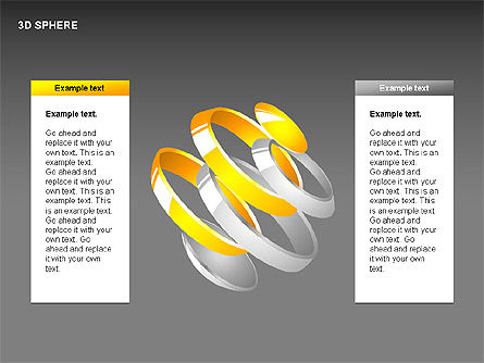 3D Sphere Charts, Slide 13, 00232, Shapes — PoweredTemplate.com
