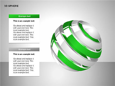 3D Sphere Charts, Slide 14, 00232, Shapes — PoweredTemplate.com