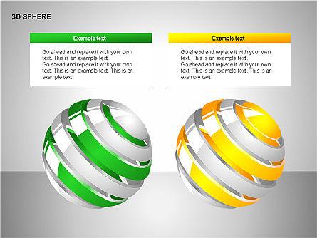 3D Sphere Charts, Slide 15, 00232, Shapes — PoweredTemplate.com