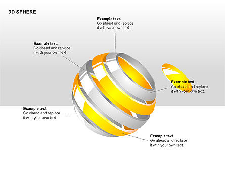 3D Sphere Charts, Slide 3, 00232, Shapes — PoweredTemplate.com
