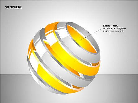 3D Sphere Charts, Slide 5, 00232, Shapes — PoweredTemplate.com