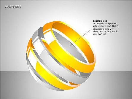 3D Sphere Charts, Slide 6, 00232, Shapes — PoweredTemplate.com