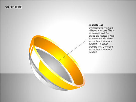 3D Sphere Charts, Slide 8, 00232, Shapes — PoweredTemplate.com