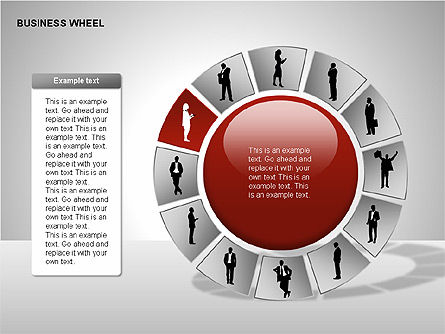 Business Wheel Diagrams, Slide 10, 00233, Stage Diagrams — PoweredTemplate.com