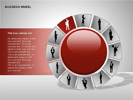 Business Wheel Diagrams, Slide 11, 00233, Stage Diagrams — PoweredTemplate.com