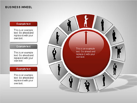 Business Wheel Diagrams, Slide 12, 00233, Stage Diagrams — PoweredTemplate.com