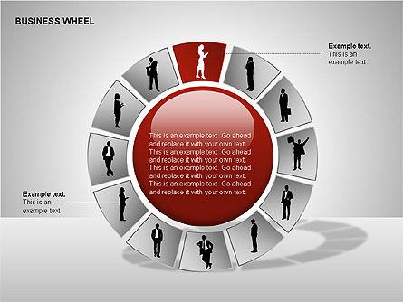 Business Wheel Diagrams, Slide 13, 00233, Stage Diagrams — PoweredTemplate.com