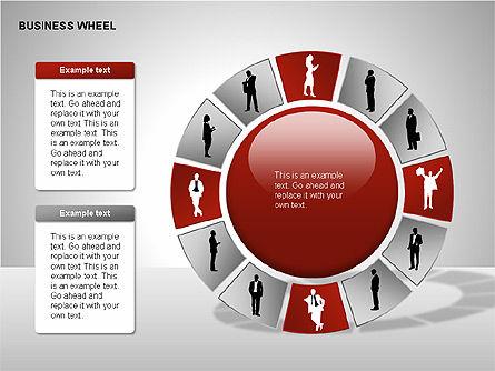 Business Wheel Diagrams, Slide 14, 00233, Stage Diagrams — PoweredTemplate.com