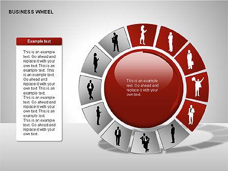 Business Wheel Diagrams, Slide 15, 00233, Stage Diagrams — PoweredTemplate.com