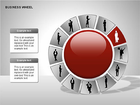 Business Wheel Diagrams, Slide 2, 00233, Stage Diagrams — PoweredTemplate.com