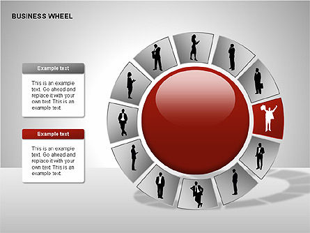 Business Wheel Diagrams, Slide 3, 00233, Stage Diagrams — PoweredTemplate.com