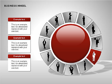 Business Wheel Diagrams Slide 4