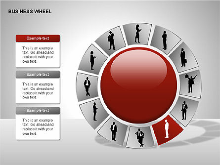 Business Wheel Diagrams, Slide 5, 00233, Stage Diagrams — PoweredTemplate.com