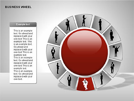 Business Wheel Diagrams, Slide 6, 00233, Stage Diagrams — PoweredTemplate.com