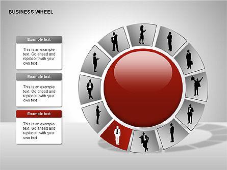 Business Wheel Diagrams, Slide 7, 00233, Stage Diagrams — PoweredTemplate.com