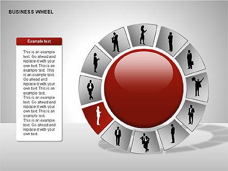 Business Wheel Diagrams, Slide 8, 00233, Stage Diagrams — PoweredTemplate.com