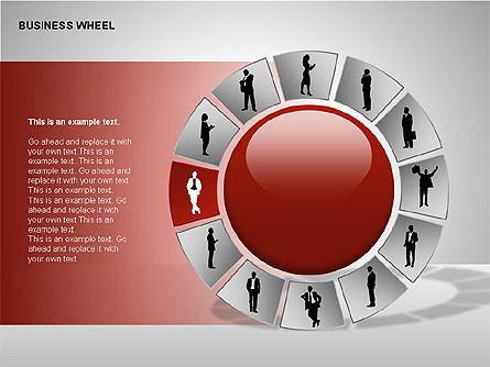 Business Wheel Diagrams, Slide 9, 00233, Stage Diagrams — PoweredTemplate.com
