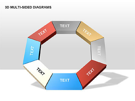 Stage Diagrams: 3D Multi-Sided Diagrams #00234