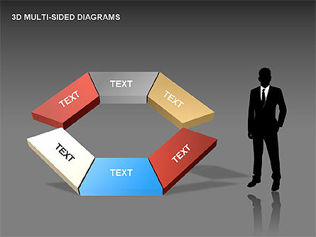 3D Multi-Sided Diagrams, Slide 10, 00234, Stage Diagrams — PoweredTemplate.com