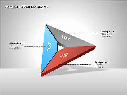 3D Multi-Sided Diagrams, Slide 11, 00234, Stage Diagrams — PoweredTemplate.com