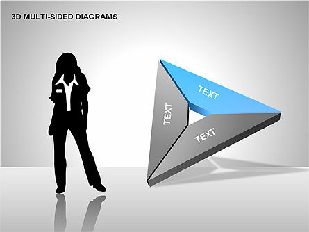 3D Multi-Sided Diagrams, Slide 12, 00234, Stage Diagrams — PoweredTemplate.com