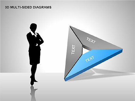 3D Multi-Sided Diagrams, Slide 13, 00234, Stage Diagrams — PoweredTemplate.com