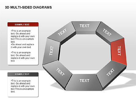 3D Multi-Sided Diagrams, Slide 4, 00234, Stage Diagrams — PoweredTemplate.com