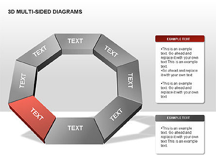 3D Multi-Sided Diagrams, Slide 7, 00234, Stage Diagrams — PoweredTemplate.com