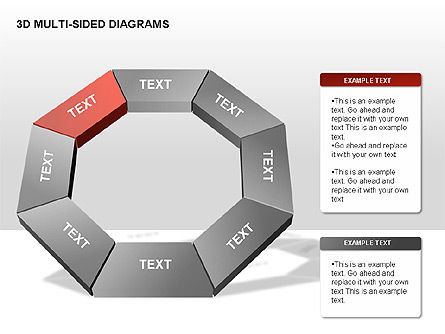 3D Multi-Sided Diagrams, Slide 9, 00234, Stage Diagrams — PoweredTemplate.com