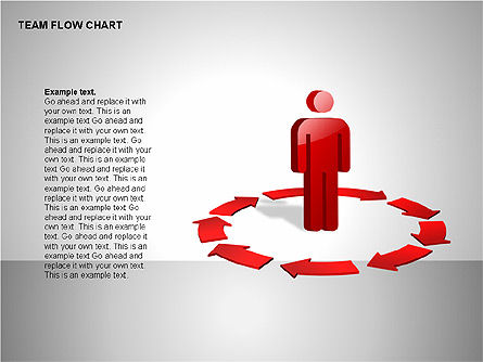 Team Flow Chart, Slide 10, 00235, Process Diagrams — PoweredTemplate.com
