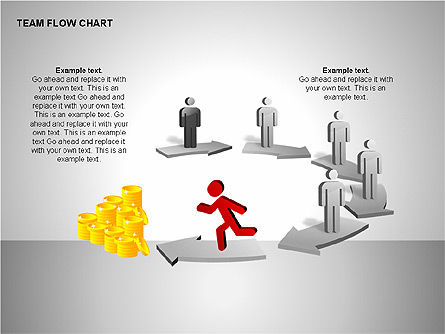 Team Flow Chart, Slide 11, 00235, Process Diagrams — PoweredTemplate.com