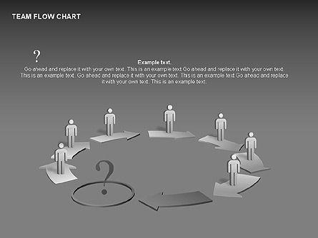 Team Flow Chart, Slide 12, 00235, Process Diagrams — PoweredTemplate.com