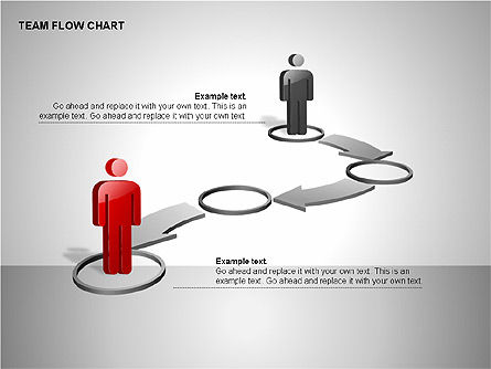 Team Flow Chart, Slide 14, 00235, Process Diagrams — PoweredTemplate.com