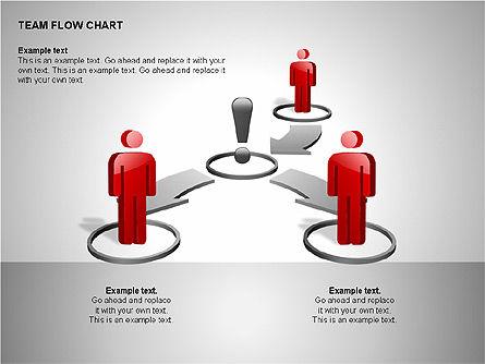 Team Flow Chart, Slide 15, 00235, Process Diagrams — PoweredTemplate.com