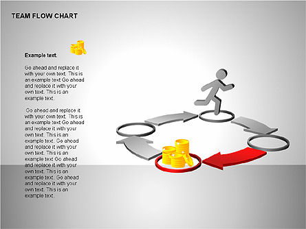 Team Flow Chart, Slide 5, 00235, Process Diagrams — PoweredTemplate.com