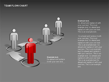 Team Flow Chart, Slide 6, 00235, Process Diagrams — PoweredTemplate.com