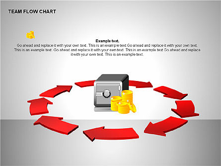 Team Flow Chart, Slide 7, 00235, Process Diagrams — PoweredTemplate.com