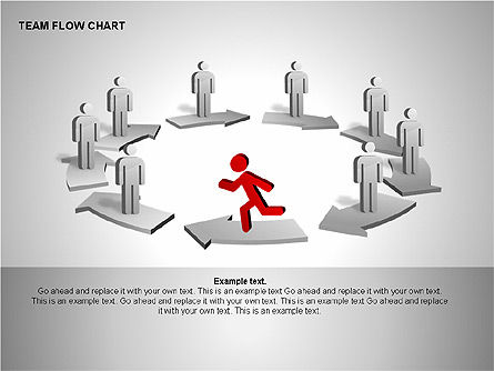 Team Flow Chart, Slide 8, 00235, Process Diagrams — PoweredTemplate.com