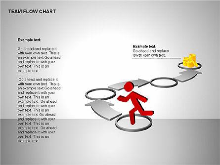 Team Flow Chart, Slide 9, 00235, Process Diagrams — PoweredTemplate.com
