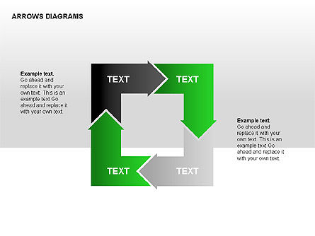 Text Boxes: Chain Process Arrows Diagram #00236