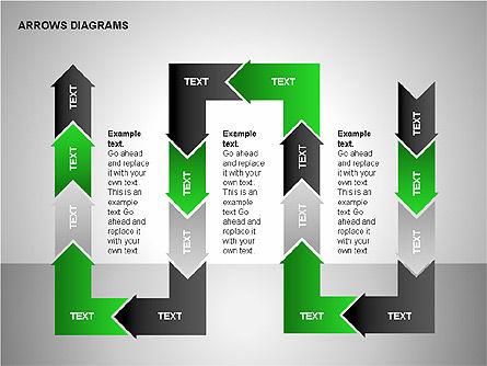 Chain Process Arrows Diagram, Slide 10, 00236, Text Boxes — PoweredTemplate.com