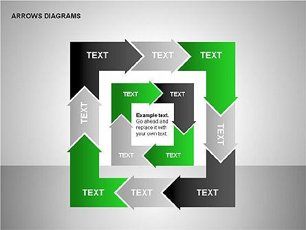 Chain Process Arrows Diagram, Slide 11, 00236, Text Boxes — PoweredTemplate.com